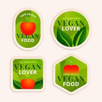 Gradientowa wegetariańska kolekcja odznak
