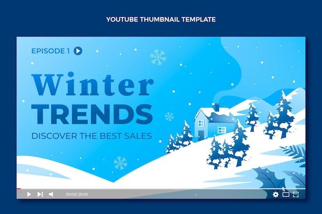Gradientowa zimowa miniatura youtube