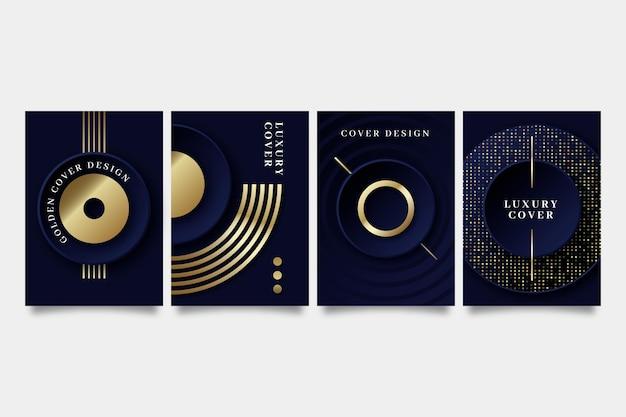 Gradientowa złota kolekcja luksusowych okładek