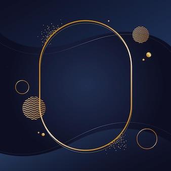 Gradientowa złota luksusowa owalna ramka