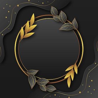 Gradientowa złota luksusowa rama