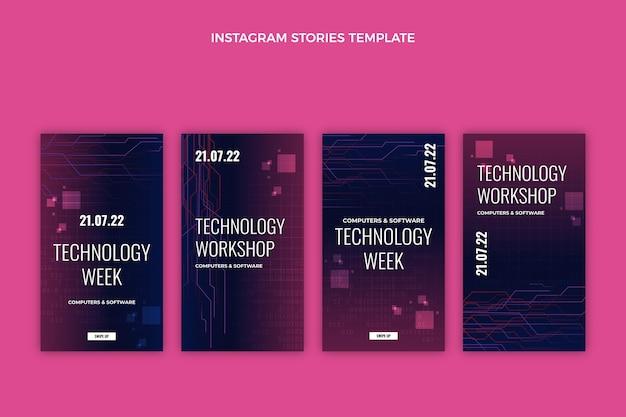 Gradientowe abstrakcyjne historie na instagramie