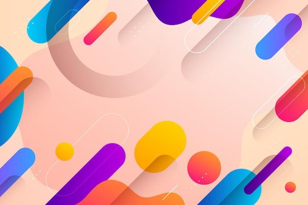 Gradientowe abstrakcyjne kolorowe kształty tła