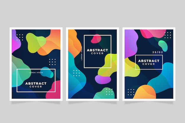 Gradientowe abstrakcyjne kształty obejmują kolekcję