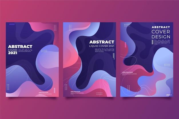 Gradientowe abstrakcyjne kształty obejmują opakowanie