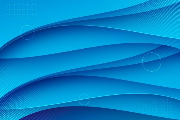 Gradientowe abstrakcyjne niebieskie tło