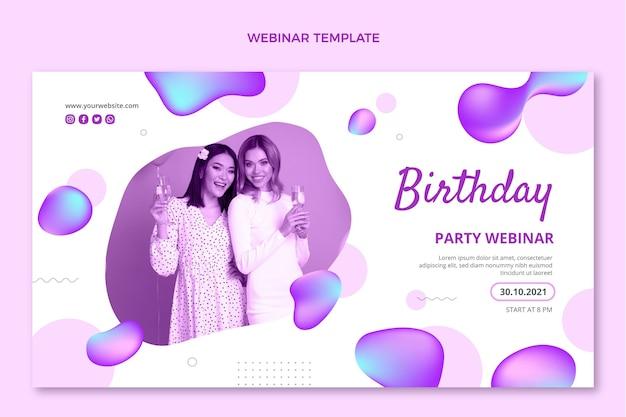 Gradientowe, abstrakcyjne, płynne webinarium urodzinowe
