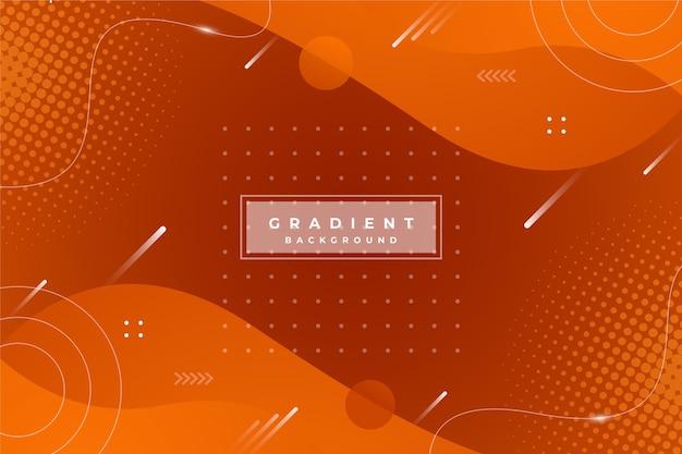 Gradientowe abstrakcyjne pomarańczowe tło