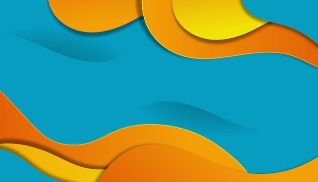 Gradientowe abstrakcyjne tło o falistym kształcie