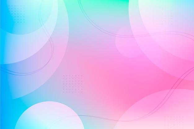 Gradientowe abstrakcyjne tło z kształtami