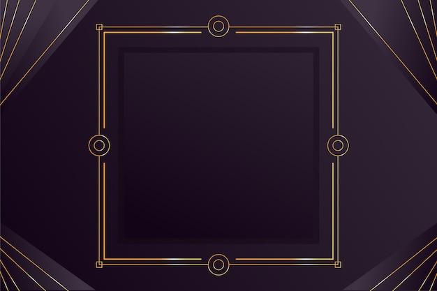 Gradientowe czarne tła ze złotymi ramkami