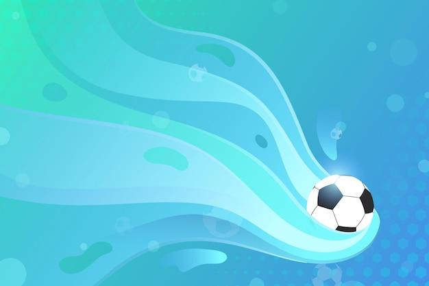 Gradientowe dynamiczne tło piłki nożnej