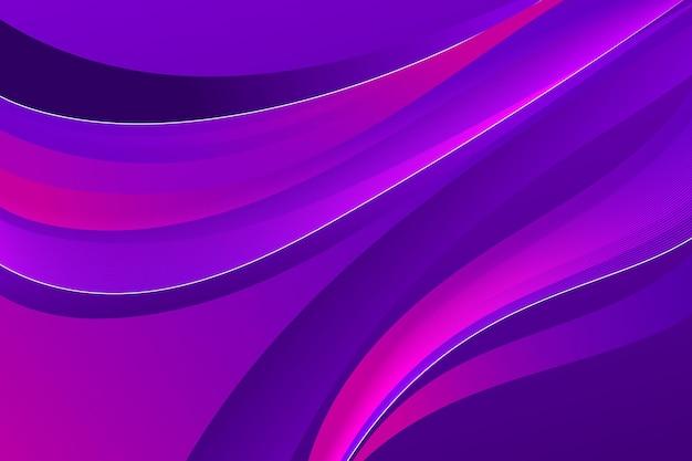 Gradientowe fioletowe faliste tło
