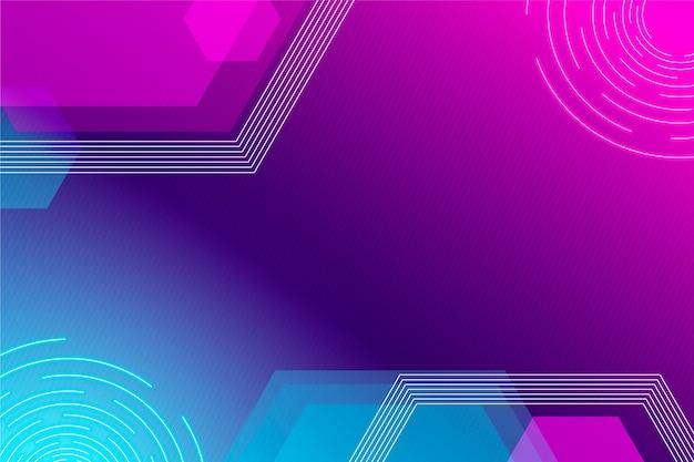 Gradientowe fioletowe i niebieskie futurystyczne tło