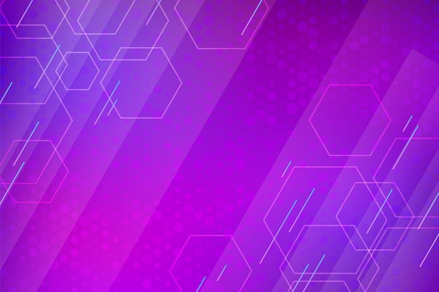 Gradientowe fioletowe tło sześciokątne
