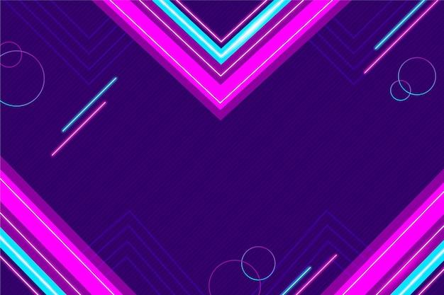 Gradientowe futurystyczne fioletowe i niebieskie tło