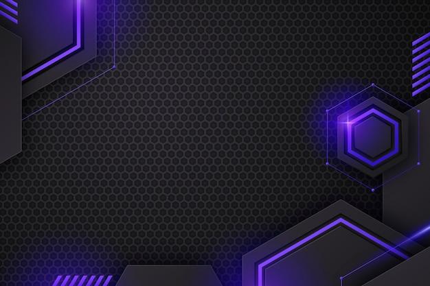 Gradientowe futurystyczne tło technologiczne