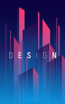 Gradientowe geometryczne abstrakcyjne tło, kolorowa minimalna okładka