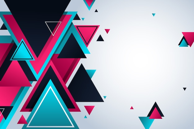 Gradientowe geometryczne wielokątne kształty tła
