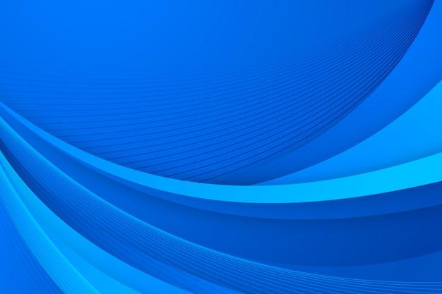 Gradientowe gładkie niebieskie linie tła