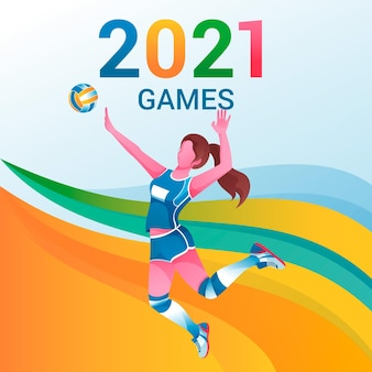 Gradientowe gry sportowe 2021 ilustracja