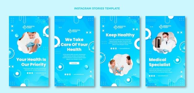 Gradientowe historie medyczne na instagramie