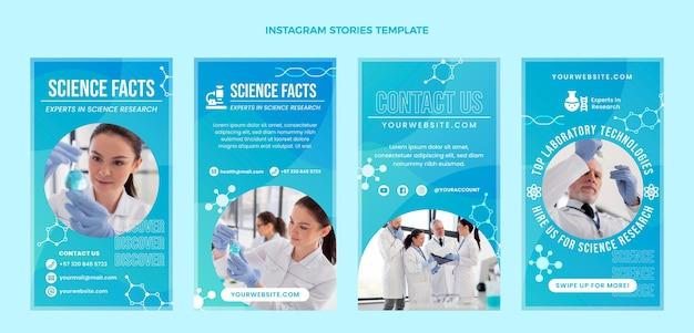Gradientowe historie na instagramie naukowe