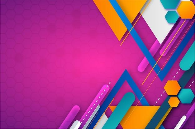 Gradientowe kolorowe abstrakcyjne tło