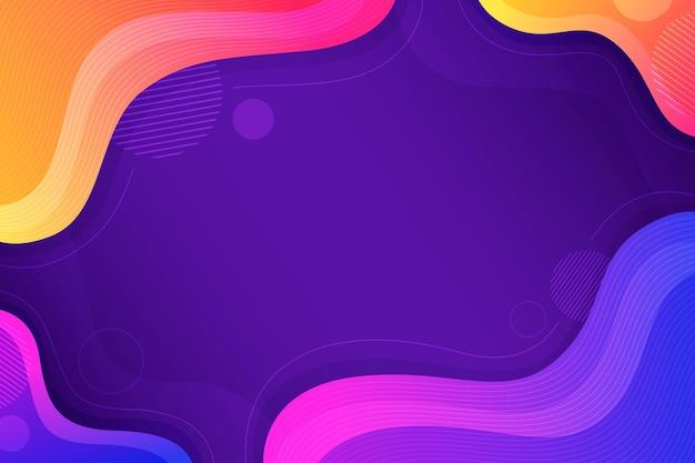 Gradientowe kolorowe faliste tło