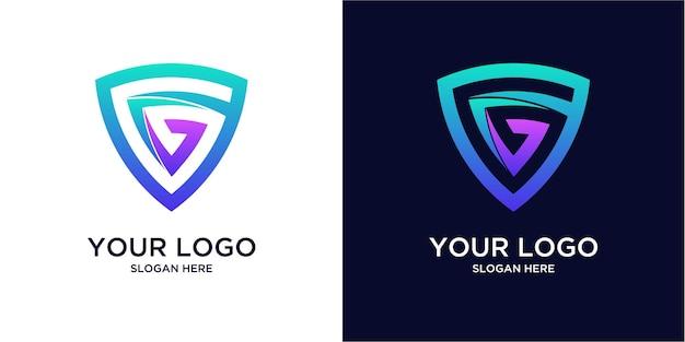 Gradientowe kolorowe logo g