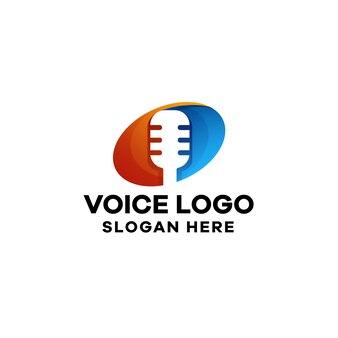 Gradientowe kolorowe logo głosowe