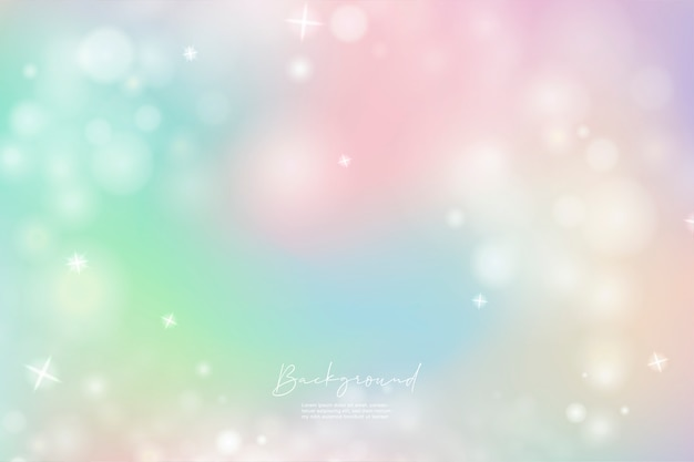 Gradientowe kolorowe niebo jednorożca