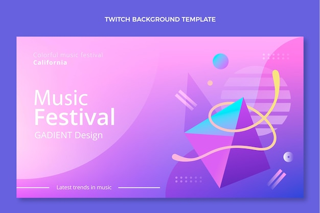 Gradientowe kolorowe tło festiwalu muzycznego