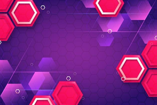 Gradientowe kolorowe tło o geometrycznych kształtach
