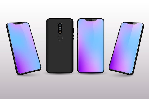 Gradientowe kolory pulpitu smartfona