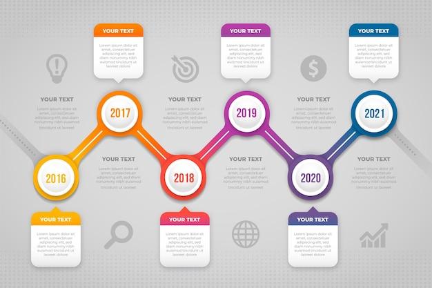 Gradientowe kroki infografiki