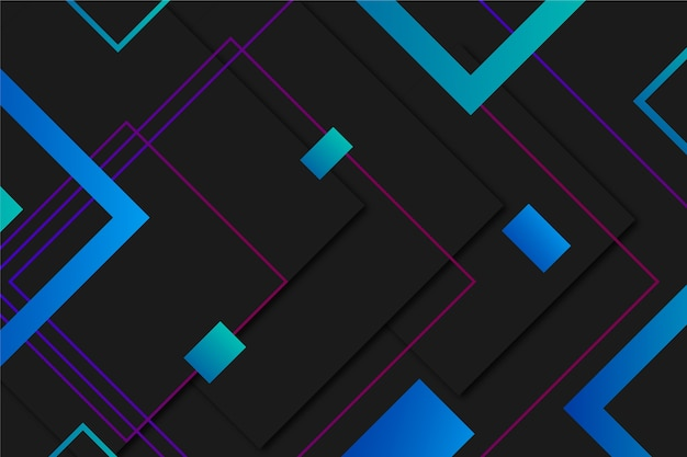 Gradientowe kształty geometryczne na ciemnym tle