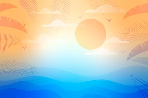Gradientowe letnie tło do wideokonferencji