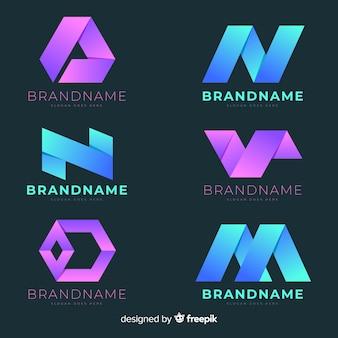 Gradientowe logo abstrakcyjne