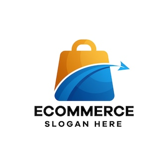 Gradientowe logo e-commerce