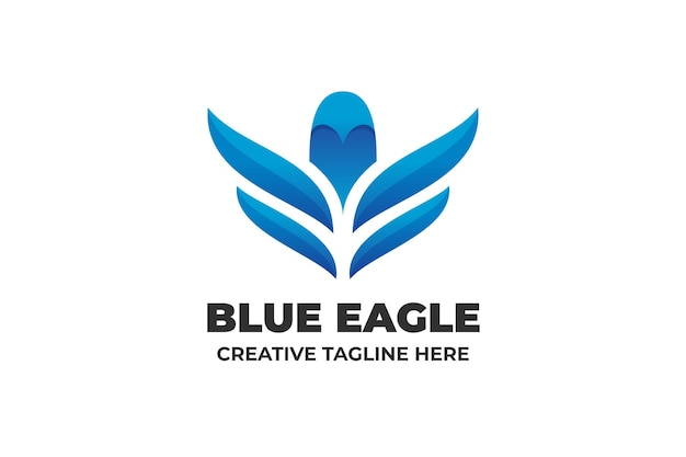 Gradientowe logo firmy blue eagle