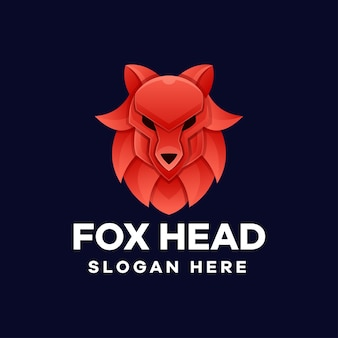 Gradientowe logo fox head