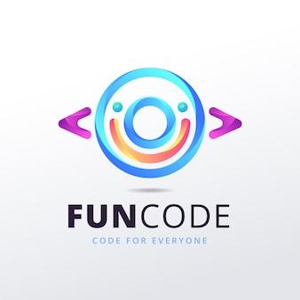 Gradientowe logo funcode