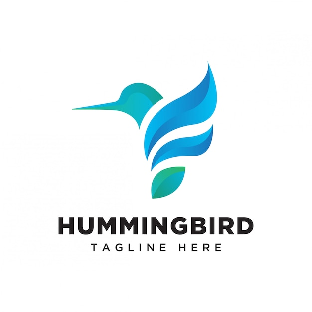 Gradientowe logo kolibra