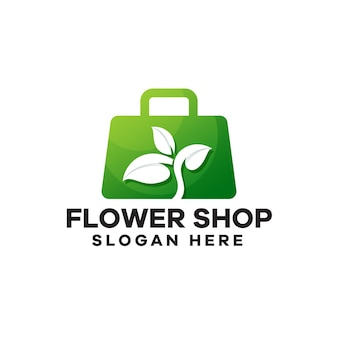 Gradientowe logo kwiaciarni