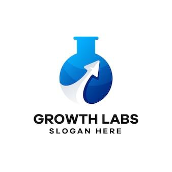 Gradientowe logo laboratoriów wzrostu