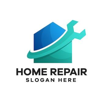 Gradientowe logo naprawy domu