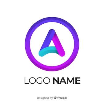 Gradientowe logo o abstrakcyjnym kształcie