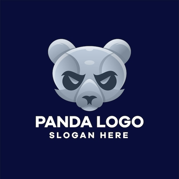 Gradientowe logo panda head