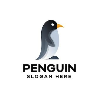 Gradientowe logo pingwina
